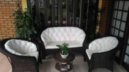 Conjunto de sofá campinas em fibra sintética