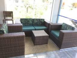 Conjunto de sofá lages em fibra sintética