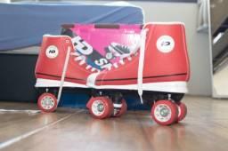 Patins Quad Hondar HD vermelho (tam. 41) usado