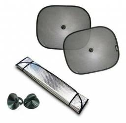 Kit Protetor Solar Automotivo (Protetor Solar Parabrisa + Protetor Solar Lateral)