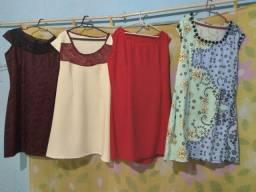 Confecção de vestidos novos ateliês da Olga