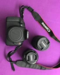 Cânon T6 + lente do kit + lente 50mm 1.8