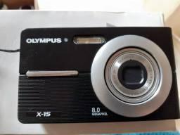 MINI CÂMERA OLYMPUS X15 COM CARTÃO...BATERIA....