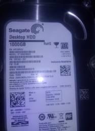 Vendo HD 1000GB duas memoria ram uma de 4gb outra de 2gb duas Placa de red