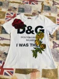 Blusa branca D&G