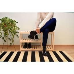 Sapateira Banco Em Pinus Alt 50cm/Larg 70cm/Prof 30cm