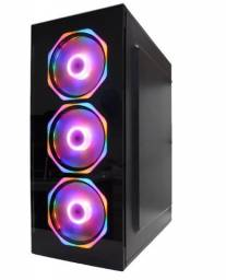 Gabinete Lateral Panoramica Fans RGB Rainbow Para Gamer