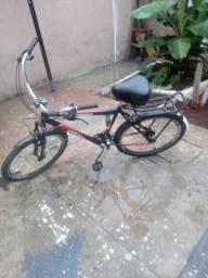 Bicicleta com garupa e Paralamas,  montada