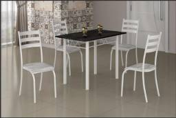 Mesa Retangular 100×60 Com 4 Cadeiras ? Ipanema ? branco