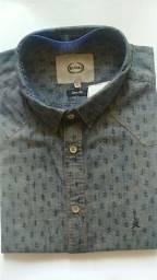Camisa  slim  cactos tamanho  GG