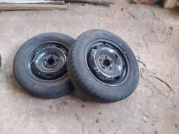 Pneus com roda ferro 5 furos aro 14