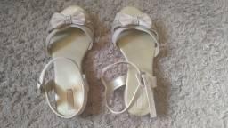 Lote sapato e sandália infantil