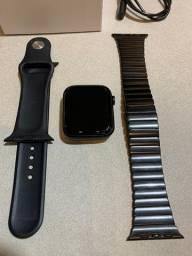 Smartwatch IWO W26 + pulseira metal (Tela Infinita)