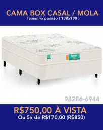 Cama box de casal / cama de mola