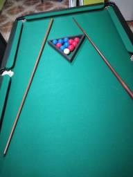 Mesa de sinuca e ping pong nova