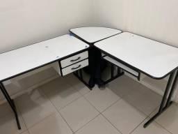 Mesas em L escritório ou ateliê
