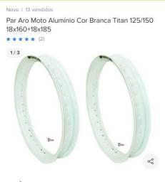 Aros de alumínio cor branca para cg titan