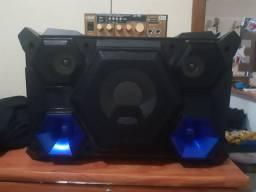 Aparelho de som e mini amplificador