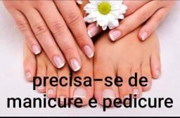 Contrata-se manicure e pedicure