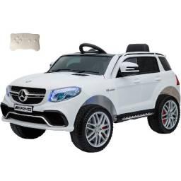 Carro Elétrico Infantil 12V Branco Mercedes Benz