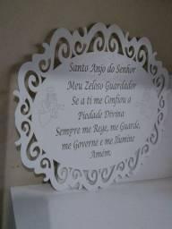 Placa oração anjo da guarda