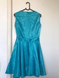 Vestido Azul Perola