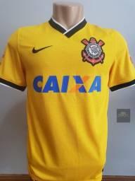 Camisa Corinthians Original De Época 2014 Amarela