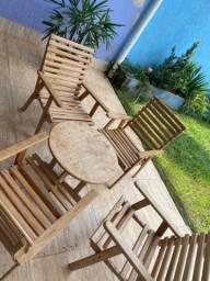 Jogo de varanda madeira