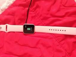 Relógio smartwatch rosa