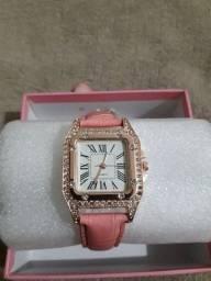 Relógio feminino Rosa