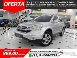 Honda CRV 2.0 EXL 4x4 16v 4p Automática Top de Linha C/ Couro + Teto Solar