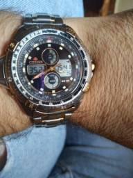 Relógio citizen temperatura ORIGINAL EXCELENTE