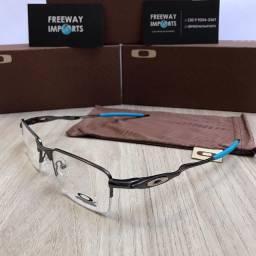 Óculos Oakley M5 Titânio blue armação de alumínio