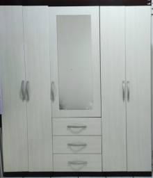 Guarda roupas 5 portas com espelho