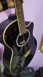 Vendo violão tagima dallas Black elétrico