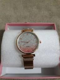 Relógio feminino magnético Rosa