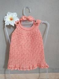 Vestido infantil crochê