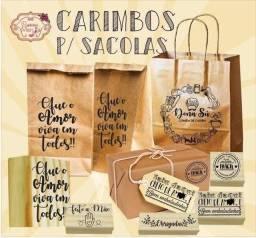 Kit completo Sacola+ carimbo + almofada