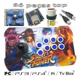 Controle Fliperama Pc/Ps3/Ps4/Usb Placa Zero Deley