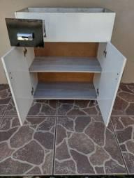 Armário para pia de banheiro + torneira usada