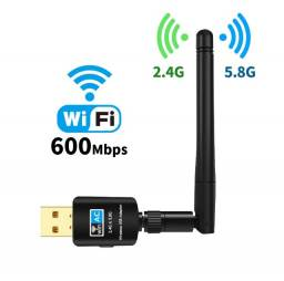 Adaptador Wireless Usb Dual Band Ac600 5.8/2.4ghz C/ Antena