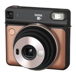 Câmera Fujifilm Instax SQ6 - Blush Gold - 12X Sem Juros