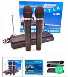 Microfone vhf herostar sem fio Bluetooth bateria v9