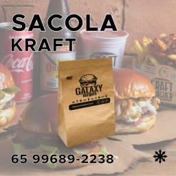 Sacola Kraft Personalizada - Arte e Entrega Gratuita
