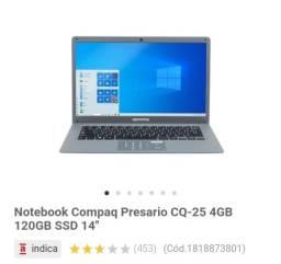Vendo Notebook Compaq 1.200