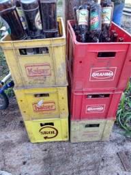 Caixa c 24 garrafas completas 6 uni. cerveja refrigerante