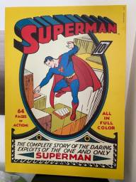 Quadro ilustrativo Revista n1 Superman + Combo revistas históricas