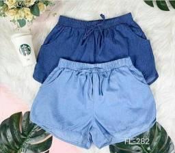 Shorts Jeans Fino Feminino.