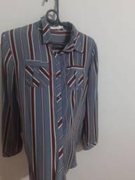 Camisa manga poliéster