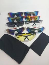 Óculos de Esportes, Ciclismo, Pesca, Corrida + Saquinho de Transporte + Flanela